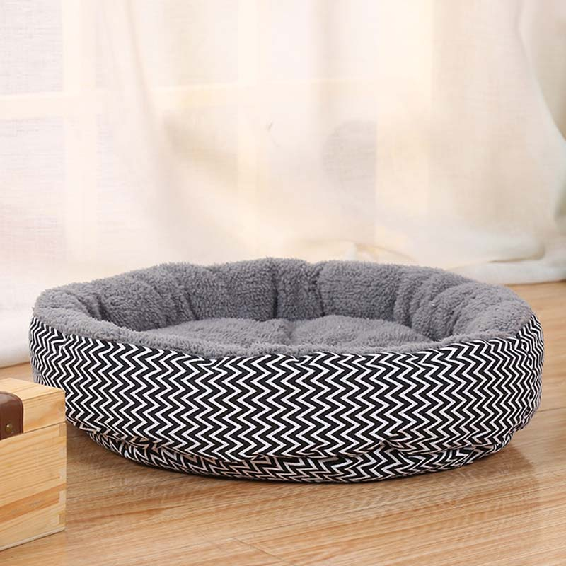 Fine Joy Hot Sales!dog Bed Kennel Soft Dog Mats Puppy Cat Bed Pet House Nest Small Dog Pad Winter Warm Pet Cushion