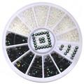 12 Box Nail Art Accessory Stickers DIY Decal Tips Glitter Manicure Acrylic Black White