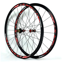 700C Carbon Fiber Bike Wheel Road Bicycle Wheel Ultralight Carbon Wheelset V/C Brakes 30MM Rim direct pull stainless steel spoke