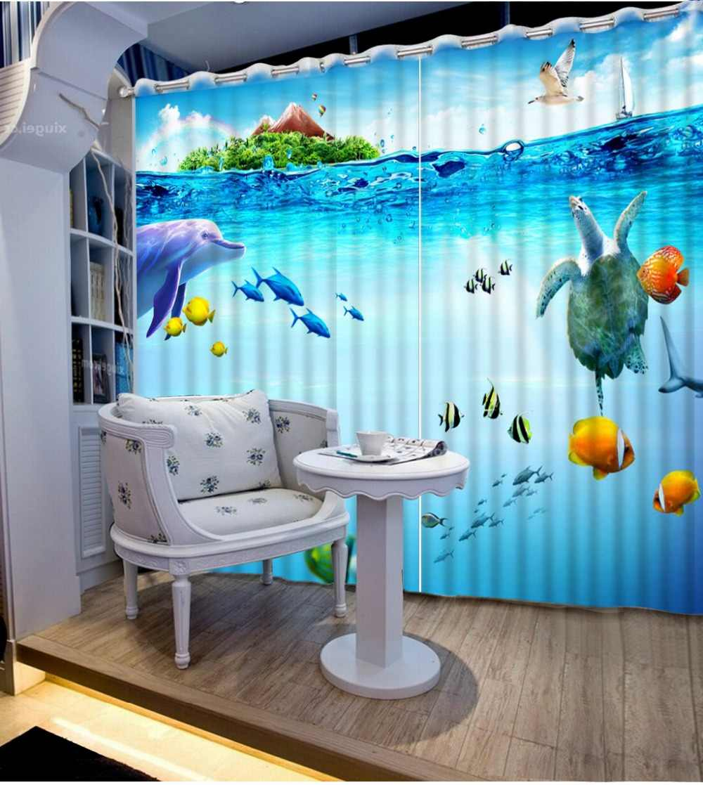 custom modern curtains Wonderland landscape curtains for kitchen living room luxury window curtains