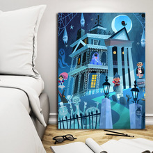 Mary Poster Beauty And The Beast Cartoon Illustrations Canvas Painting Haunted Mansion Print Wall Art Oil HD Pictures Home Decor