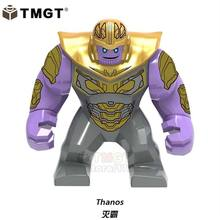 Single Sale Big Size Thanos Green Lantern Hulk Venom Iron Man Building Blocks Gifts Toys For Children Compatible With Legoings(China)
