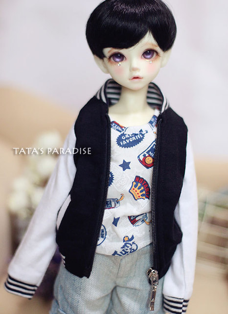Fashion  black / red coat  For BJD 1/6 YOSD,1/4 MSD ,1/3 SD13 ,DD Doll Clothes Accessories