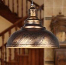 25CM 1 Light,Retro creative iron loft pendant light,For restaurant bar home living lighting,E27 Bulb Included,90V~260V