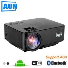 АУН Проектор 2 в 1 СВЕТОДИОДНЫЙ Проектор + TV BOX Set в Android 4.4 WI-FI Bluetooth 1500 Люмен Проектор Поддержка DLNA Airplay AC3 AM200