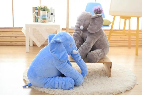 Pequeno Tamanho 40 cm 5 cores Elefante Travesseiro Macio Travesseiro Sono Do Bebê Do Algodão Conjunto Berço Cama Portátil Almofada Do Assento de Carro