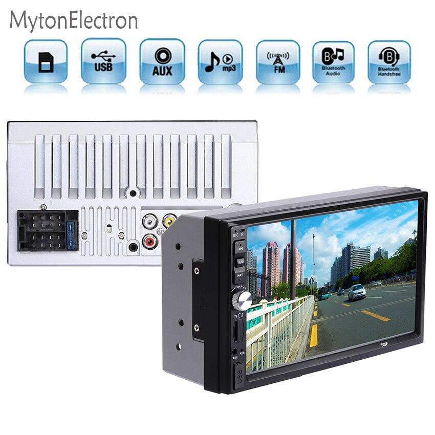 """imágenes para 2DIN Coche Audio Bluetooth 7 """"HD Pantalla Resistente soporte de Música MP3 de Radio En Dash Reproductor MP5 USB TF AUX"""