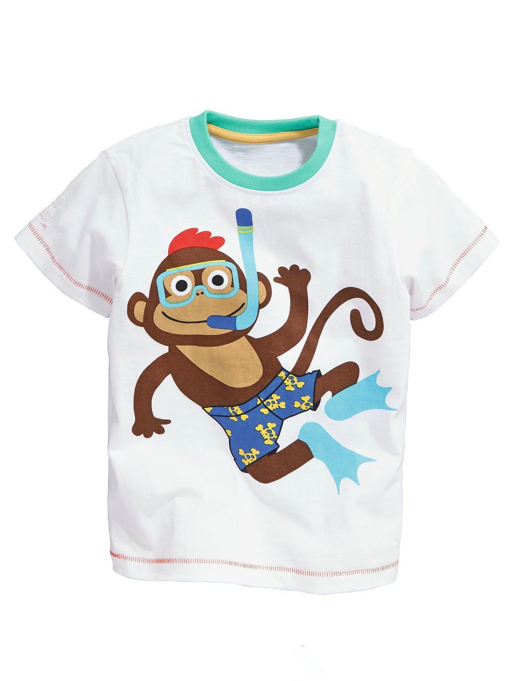 HTB1WwDBHXXXXXbpXFXXq6xXFXXXh - brand 2018 new fashion kids clothing 100%cotton blouse childrens clothes baby boy t shirts boy's top tee cartoon car Dinosaur