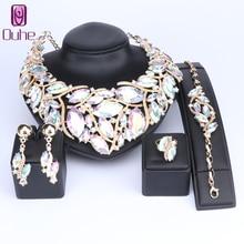 OUHE Fashion Indian Jewellery Bohemia Crystal Necklace Sets