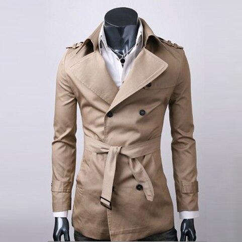 Christmas Plus Size M XXL 2017 Fashion British Style Autumn Men Thin Trenchcoat Casual Mens Long Trench Coats Long Jacket MQ742
