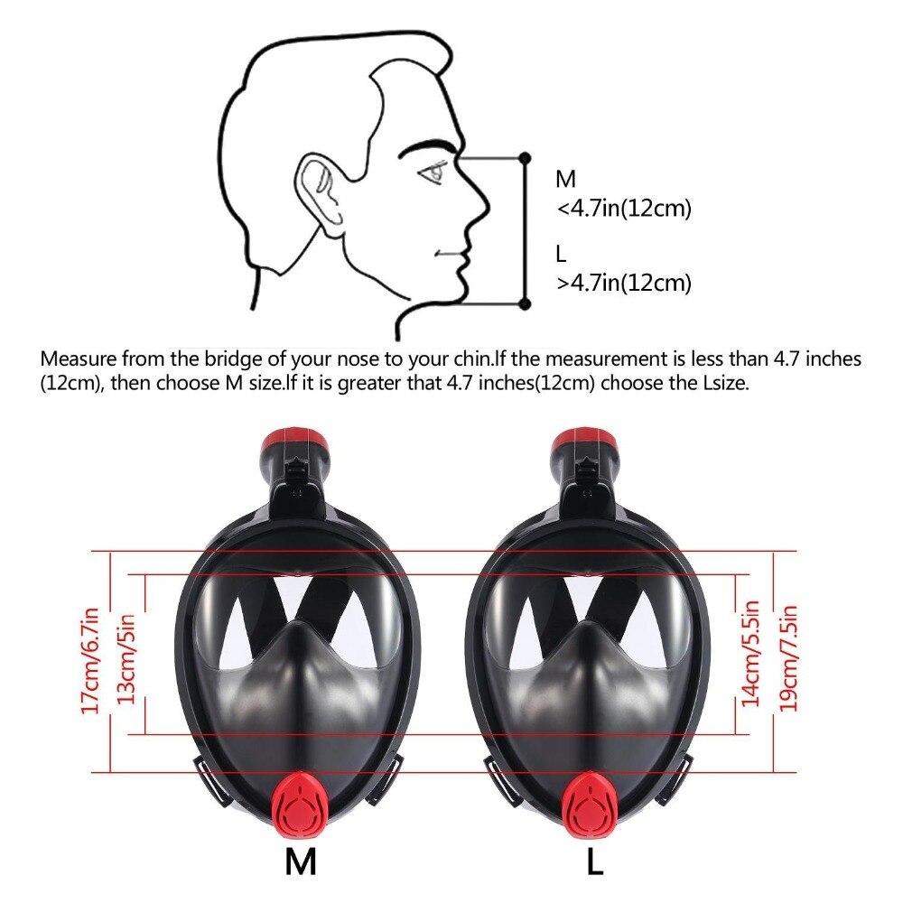 Plongée masque de plongée Sous-Marine Anti Brouillard Plein Visage masque de plongée en apnée Nouveau Arrical - 5