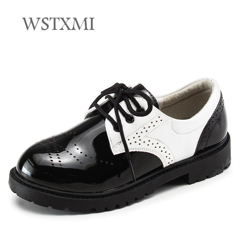 Children Shoes For Boys Girls Patent Leather Wedding Dress