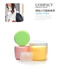 10g / 20g 50g 100g travel cream lotion cosmetic container plastic empty jar 1pc random color massage