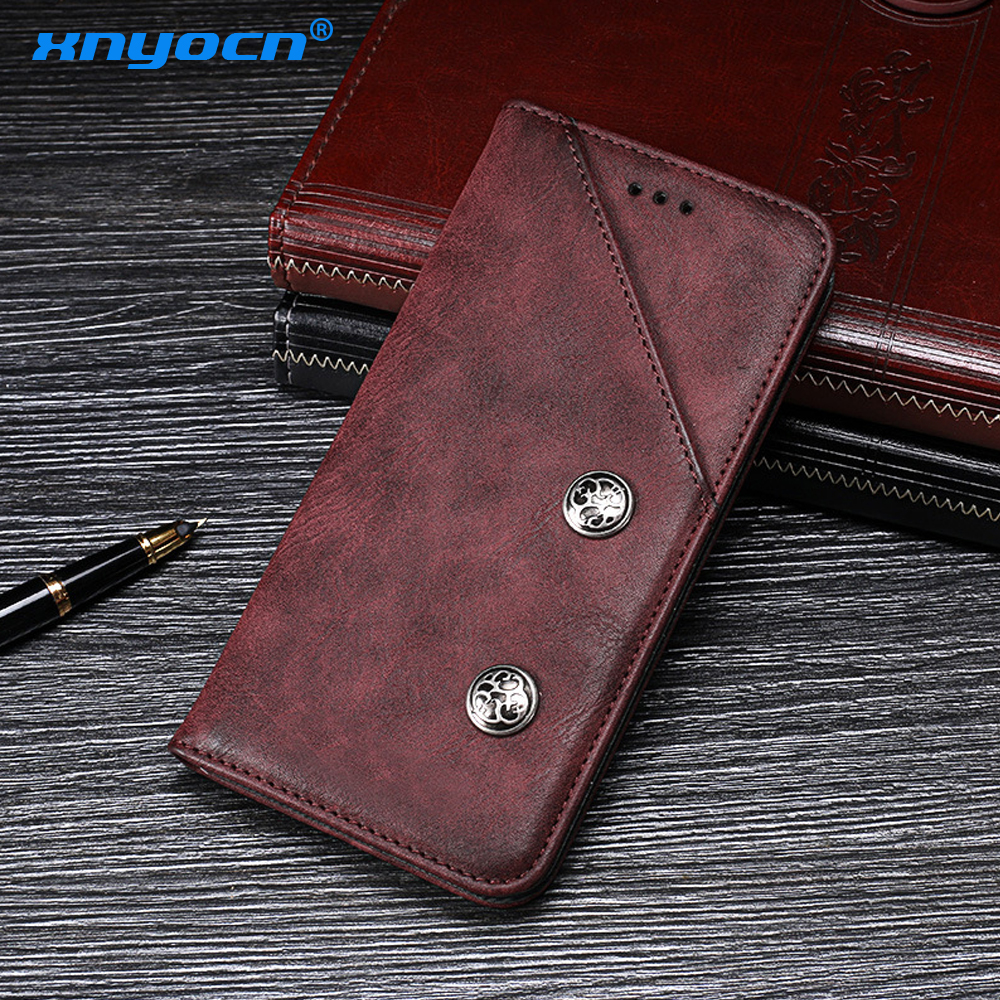 """Honor 10 Case 5.84"""" Luxury Flip Wallet Retro Leather Cases for Huawei Honor 10 7A 9 8 9i P9 P10 Plus P20 Lite Mate 10 Pro Cover"""