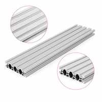 New Arrival 200/300/400mm Length 2080 T-Slot Aluminum Profiles Extrusion Frame For CNC Hot