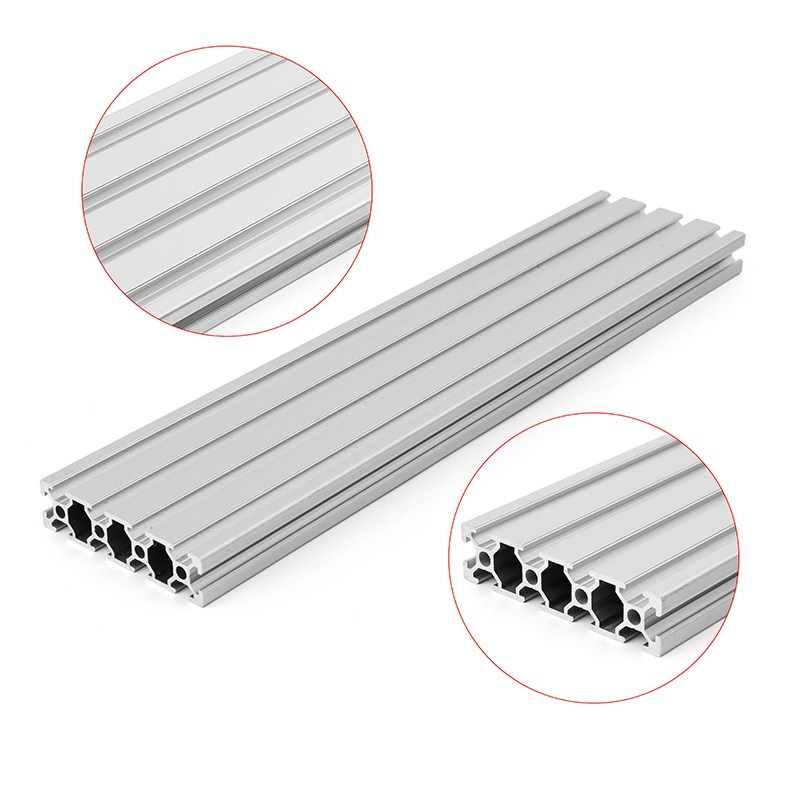 New Arrival 200/300/400mm Length <font><b>2080</b></font> T-Slot Aluminum Profiles Extrusion Frame For CNC Hot image
