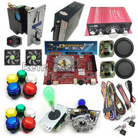 3D Pandora 7 PCB Board 2177 in 1 with harness joystick LED button power adapter coin acceptor for DIY Arcade Game cabine machine