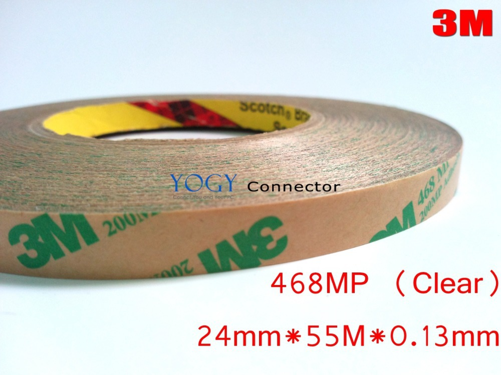 1x 24mm 3M 468MP 200MP Double Sided Adhesive Transfer Tape, High Temperature Formulation for Electrical Nameplate