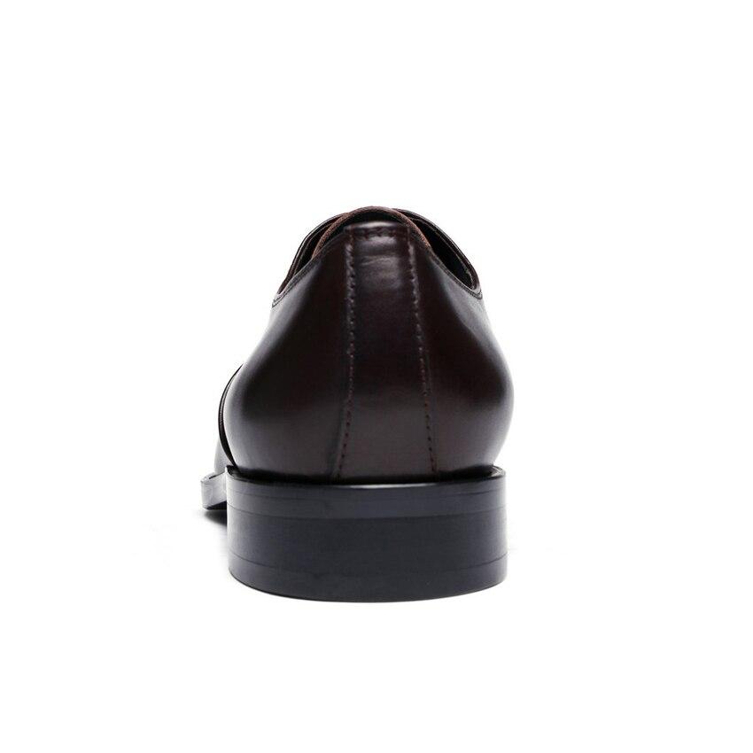 Apontado Escritório Couro Homens Alta Sapatos Partido Dos chocolate Genuíno Casamento Calçados Ymx478 Dedo Homem Handmade Oxfords Formal Preto De Qualidade Vestido Do rXX6T