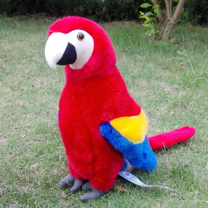 Gros jouet perroquet poupée jouets en peluche Simulation animaux Macaw poupées décoration maison cadeau 32 cm