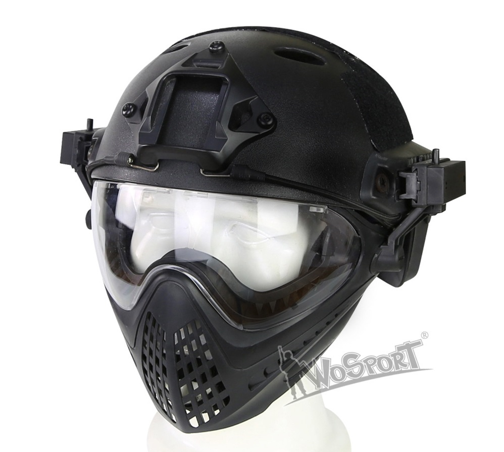 New outdoor tool Tactical Helmet with Mask for Military Airsoft Paintball Army WarGame equipment high quality outdoor airframe style helmet airsoft paintball protective abs lightweight with nvg mount tactical military helmet