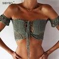 Sexy Colheita Rendas Top 2016 Verão Ombro Off White Lace Crochet Mulheres Brandy Melville Elegante Tanque Curto Topos de Culturas Bustier