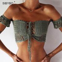 Sexy Lace Crop Top 2016 Summer Off Shoulder White Lace Crochet Women Brandy Melville Elegant Short