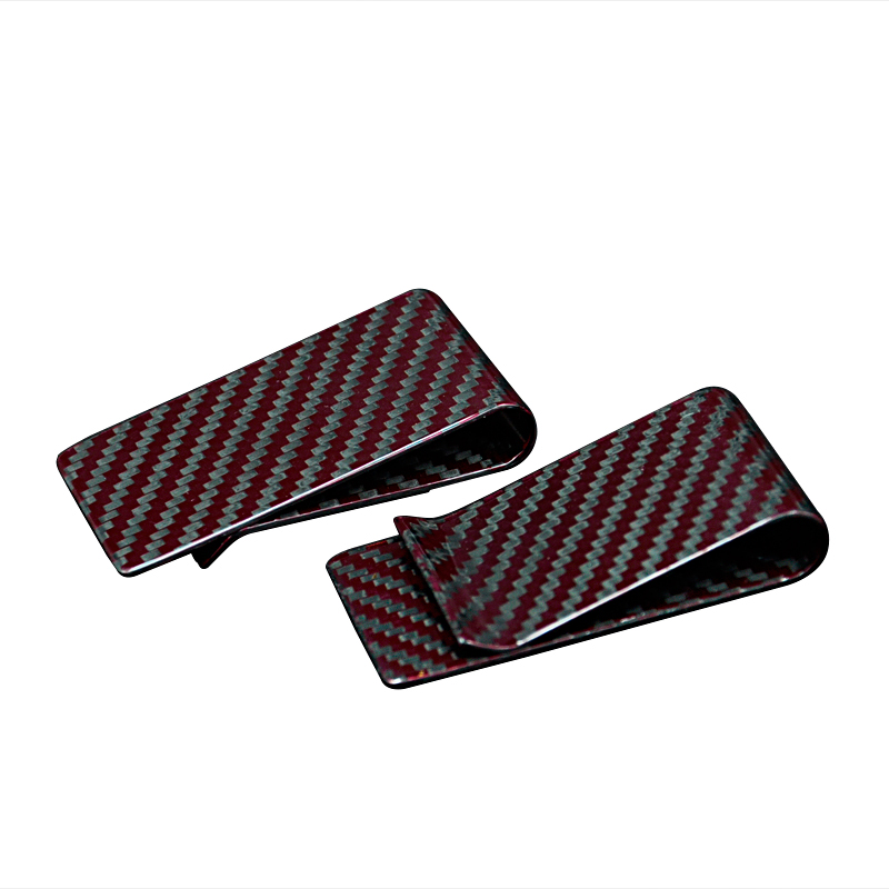 MONOCARBON Minimalist Aramid Fiber Clamp For Money Portable Money Clip Antique Glossy Surface thin Wallets Carteira Billetera in Money Clips from Luggage Bags
