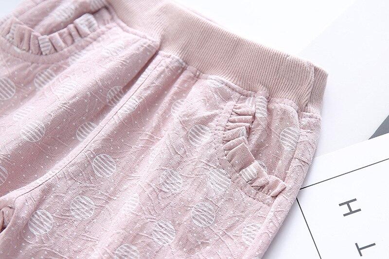 Dziecięce spodnie Cienki przekrój Dziewczyny Koronkowe kieszenie - Ubrania dziecięce - Zdjęcie 4