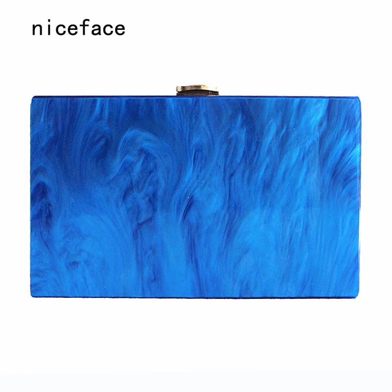 New Wallet 2017 Women messenger bag fashion party handbag puring pearl luxury acrylic shoulder bag lady