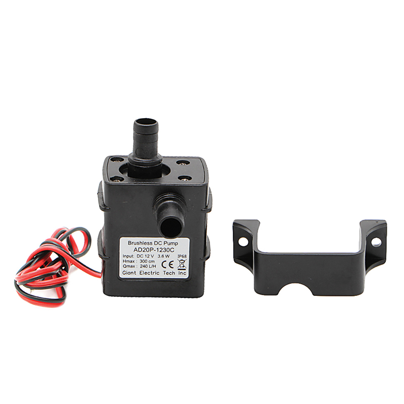 New Mini DC12V 3m 240L/H Brushless Motor Submersible Water Pump Home Best Quality