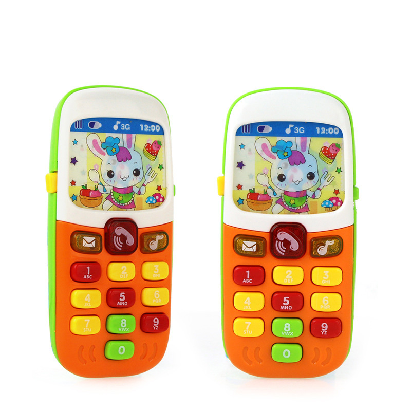 Electronic Toy Phone For Kids Baby Mobile Elephone Educational Learning Toys Music Machine Toy For Children Random Colors