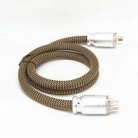 High end 5N Oxygen free Copper Power Wire HIFI Power CABLE CD DVD power line AU US Power cord