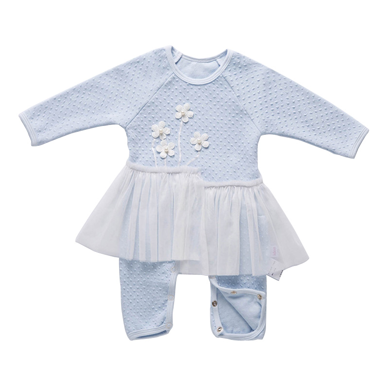 Baby Rompers Long Sleeve Cotton Newborn Baby Girl Clothes Spring Style Infant Overalls Lace Princess Baby Dress Rompers DQ401 baby rompers 2016 spring autumn style overalls star printing cotton newborn baby boys girls clothes long sleeve hooded outfits