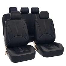 Lüks PU deri evrensel araba koltuğu kaplaması seti otomotiv koltuk kapakları koruyun Fit çoğu araba su geçirmez oto iç aksesuarları