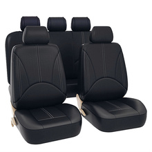 Luxury PU Leather Universal Car Seat Cover Set Automotive Seat Protect Covers Fit Most Car Waterproof Auto Interior Accessories