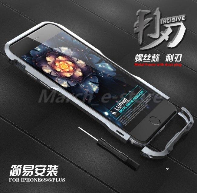 "Цена за Luphie роскошный бампер чехол для iPhone 6 4.7 ""и для iPhone6 плюс 5.5"" для iPhone 6 розничной Пак алюминиевый бампер металла для iPhone 6"