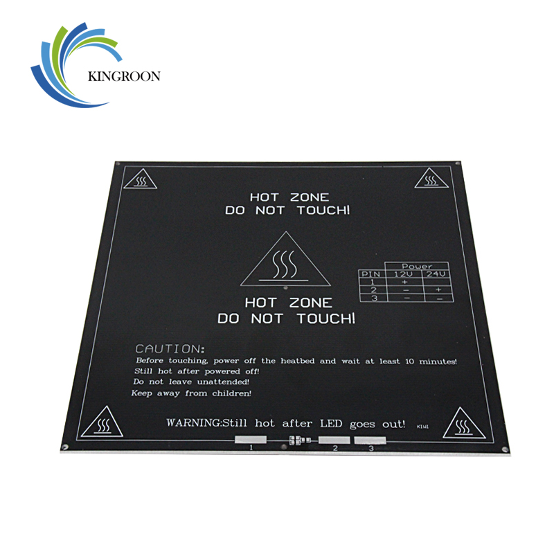 MK3 Heated Bed 12V 24V Black Parts Heatbed Hot HotBed 3D Printers Part Heat 214mmx214mm Aluminum Plate 3mm PCB Accessories 1