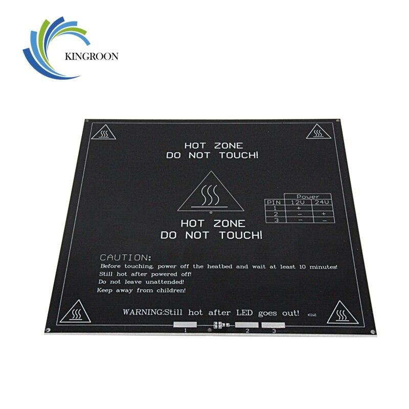 MK3 cama caliente 12 V 24 V negro partes Heatbed caliente semillero 3D impresoras parte de calor de 214mm x 214mm placa de aluminio 3mm PCB accesorios 1