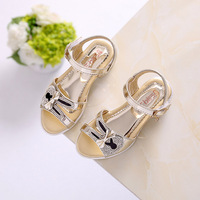 Girl Sandals Party Girls Shoes Summer Princess Toddler Flower Wedding Shoe Kids Leather Size 26 35