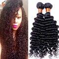 Peruvian Deep Curly Virgin Hair 100% Human Hair Bundles 7A Cheap Peruvian Virgin Hair Deep Wave 3 Bundles Peruvian Deep wave
