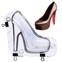 f2dd6bb1b Tamanho grande Molde de Chocolate 3D Sapatos de Salto Alto Doces Decoração  Do Bolo moldes Ferramentas Bolo DIY Home Ferramentas .