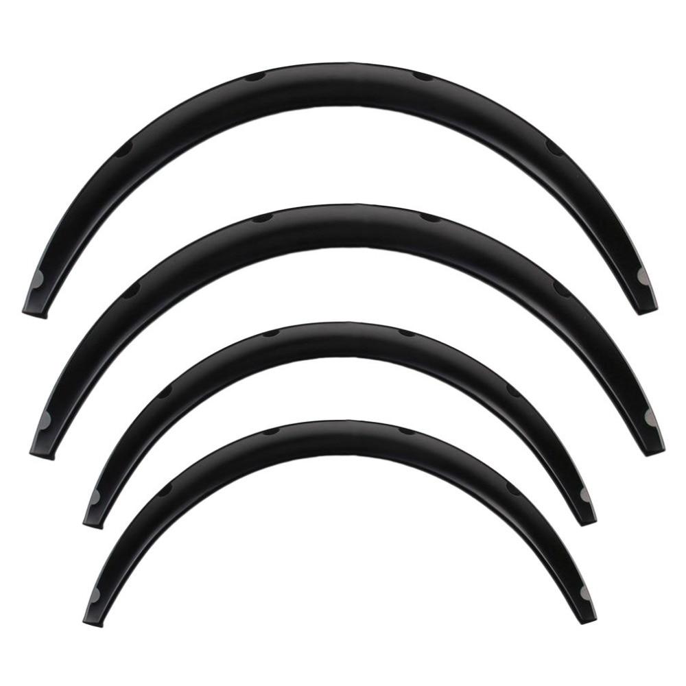 4 pcs Universal Car Auto Fender Flares Arch Wheel Eyebrow Protecting Mudguards Sticker PU Car Modification Accessory