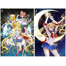 Sailor Moon 5D DIY Алмазная картина в японском стиле мультфильм Алмазная мозаика набор полный квадратный/круглое сверло, смолы Стразы детский подарок