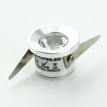 10Pcs/Lot 1W Under Cabinet Spot Light Ceiling Recessed Mini LED Downlights for Jewelry Display downlight