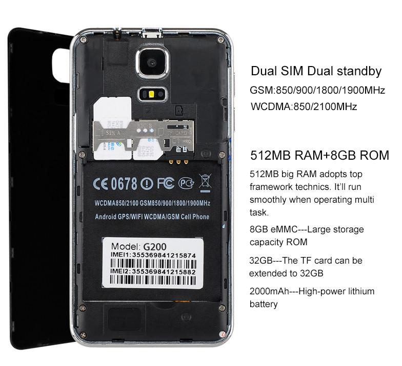 Купить Смартфон MTK6572, 5-дюймовый, двухъядерный