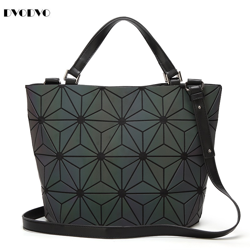 DVODVO Bao Bao bag Women Luminous sac baobao Bag Diamond Tote Geometry Quilted irregular Shoulder Bags Folding Handbags bolso 2018 fashion bao bag women luminous sac bao bags tote geometry quilted shoulder bags saser plain folding handbags bolasa