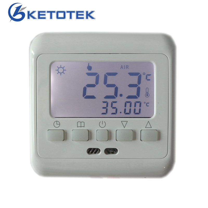 Mechanical Digital Floor Heating Thermostat Underfloor Warm Temperature Controller Weekly Programmable with LCD Backlight 6 1 programmable eu floor heating thermostat room temperature controll with lcd touch