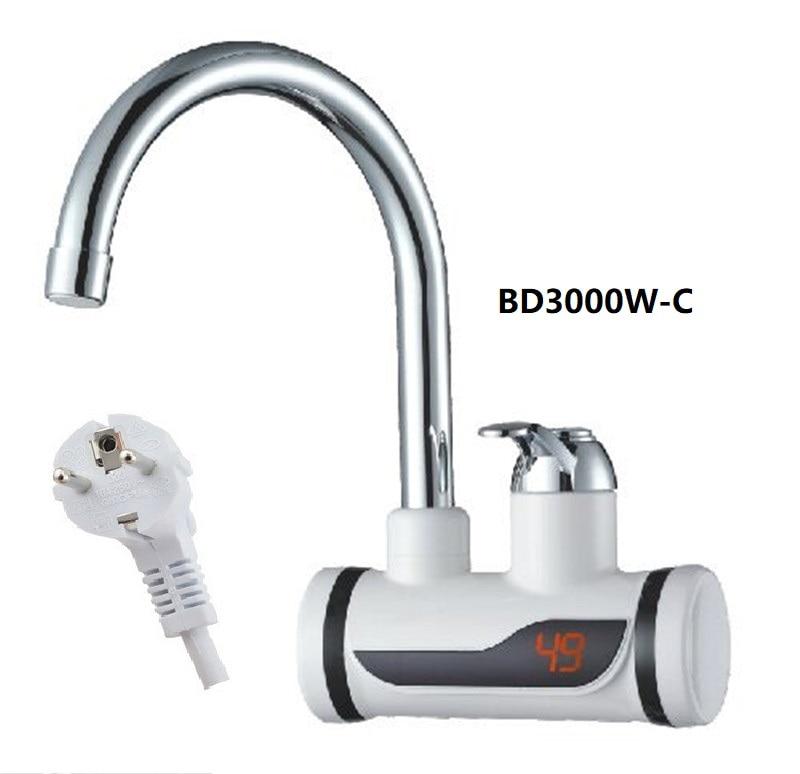 473-BD3000W-C,Digital Display Instant Hot Water Tap,Fast Electric Heating Water Tap,Inetant Electric Heating Water Faucet