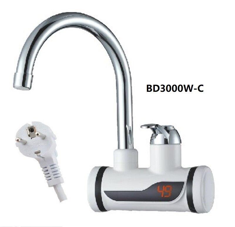 473 BD3000W C Digital Display Instant Hot Water Tap Fast electric heating water tap Inetant Electric